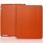 JisonCase Smart Leather Case orange кожаный чехол для iPad 2\3\4
