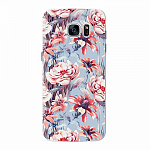 Чехол для Samsung Galaxy S7 edge Deppa Art Case Flowers Голубые цветы