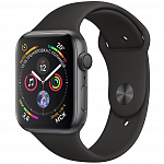 Apple Watch Series 4 GPS 44mm (Space Gray Aluminum Case with Black Sport Band)