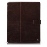 Кожаный чехол для Apple iPad 2\3\4 Zenus Masstige Block Folio (black chocolate)