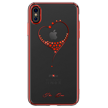 Чехол для iPhone XS Max Swarovski Kingxbar Wish Series Red