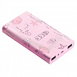 Внешний аккумулятор Hoco Power Bank 13000 mAh Ocean series, Pink