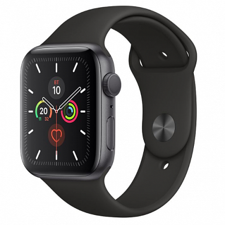 Apple Watch Series 5 40mm (Space Gray Aluminum Case with Black Sport Band) MWV82