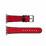 Ремешок кожаный The Core Leather Band для Apple Watch 38mm Red