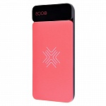 Внешний аккумулятор Rock Power Bank P38 Wireless 8000 mAh with Display red