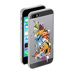 Чехол для Apple iPhone 5/5S Deppa Gel Art Animal Тигр