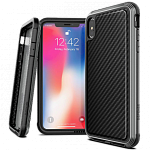 Противоударный чехол для iPhone XS Max X-Doria Defense Lux Black carbon