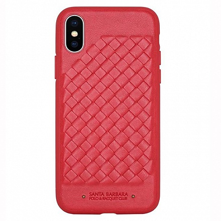 Чехол для iPhone XS Max Polo Club Santa Barbara Ravel Series (красный)