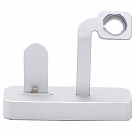 Док-станция для Apple iPhone и Apple Watch COTEetCI Base Dock (Silver)