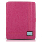 Кожаный чехол для Apple iPad 2\3\4 Zenus Masstige Color Point Foilo Series (pink)