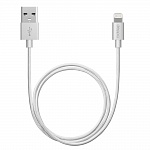 Дата-кабель USB-8-pin для Apple MFI Deppa серебристый 1.2м