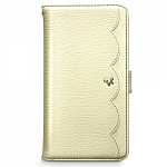 Чехол Zenus Pretty Lace Diary Collection для Samsung Galaxy S4 бежевый