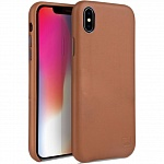 Кожаный чехол для iPhone XS Max Uniq Duffle Vale Genuine leather Camel