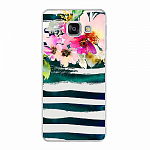 Чехол для Samsung Galaxy A3 (2016) Deppa Art Case Flowers Акварель