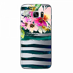 Чехол для Samsung Galaxy S7 edge Deppa Art Case Flowers Акварель
