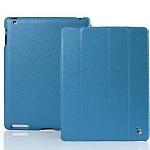 Jison Case Smart Leather Case blue кожаный чехол для iPad 2\3\4