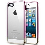 Бампер SGP Linear Crystal Metal для iPhone 5, 5s (розовый)