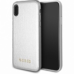 Чехол Guess для iPhone X Iridescent Hard PU Silver