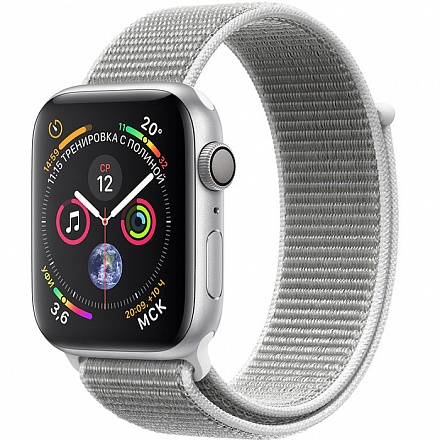 Apple Watch Series 4 GPS 44mm MU6C2 (Silver Aluminum Case with Seashell Sport Loop)