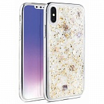 Чехол для iPhone XS Max Uniq Lumence Clear Gold