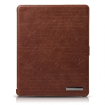 Кожаный чехол для Apple iPad 2\3\4 Zenus Masstige Lettering Diary Series (brown)