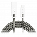 Кабель передачи данных Rock Type-C to USB Cobblestone round cable 1м cream