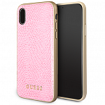 Чехол Guess для iPhone X Python Hard PU Pink
