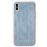 Чехол Guess для iPhone X Python Hard PU Blue