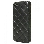 Панель iCover для iPhone 5 Leather Swarovski black