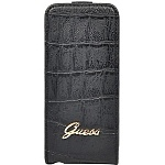 Чехол для iPhone 5/5S Guess Croco Flip черный