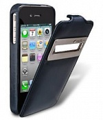 Чехол Melkco LС Apple iPhone 4 (винтаж синий)