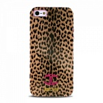 "Чехол для iPhone 5 JUST CAVALLI ""MICRO MACRO LEOPARD"" розовый"