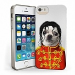 Чехол силиконовый для iPhone 5S/5 Pets Rock Premium Gel Shell Michael Jackson