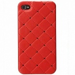 Панель iCover для iPhone 5 Leather Swarovski red