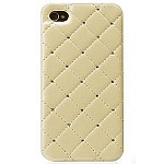 Панель iCover для iPhone 5 Leather Swarovski Cream